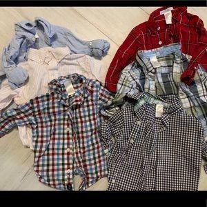 Janie and jack baby boy lot dress shirts